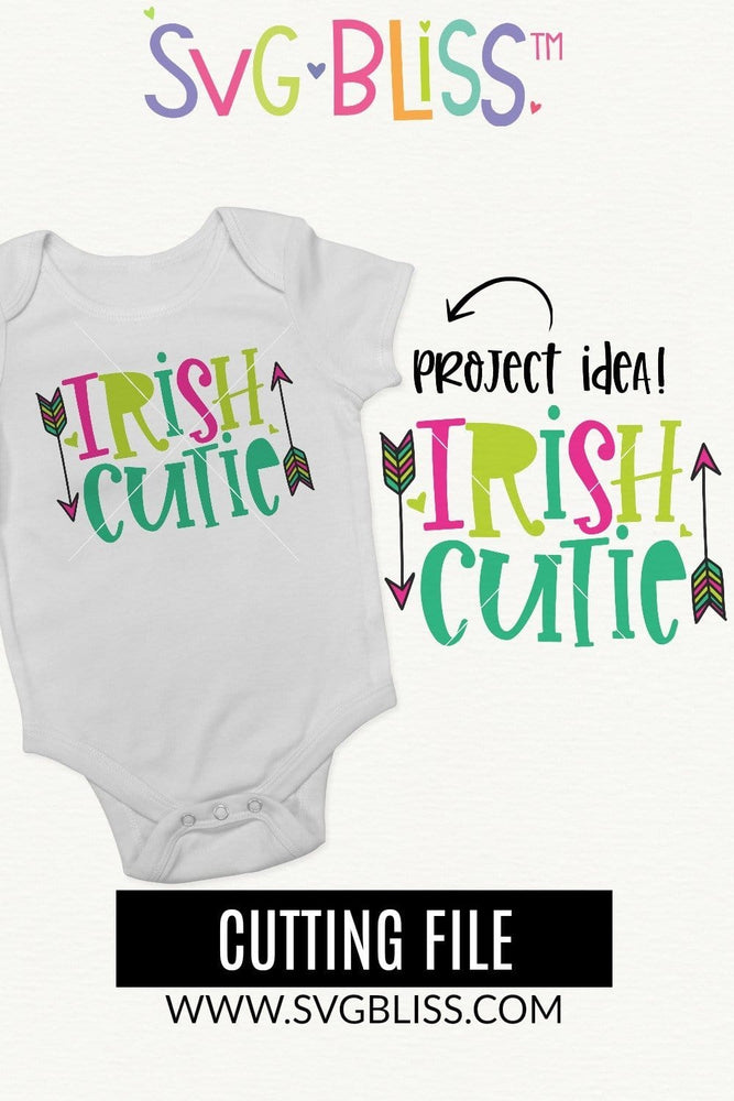 Irish Cutie SVG DXF Cut File for Cricut & Silhouette. Copyright 2020 SVG Bliss. All Rights Reserved.