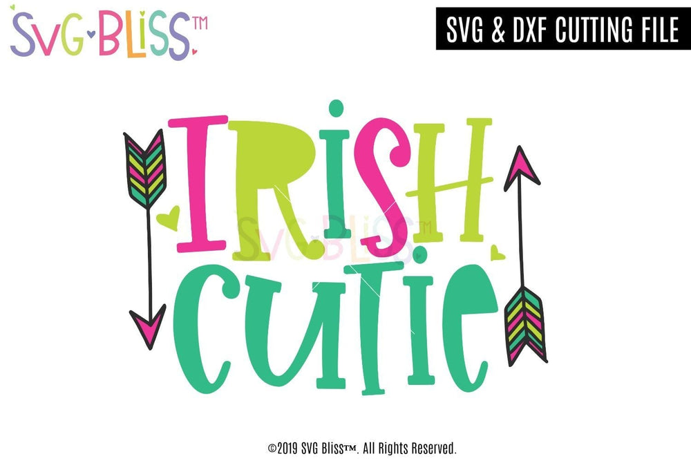 Irish Cutie SVG DXF Cut File. Copyright 2020 SVG Bliss™.