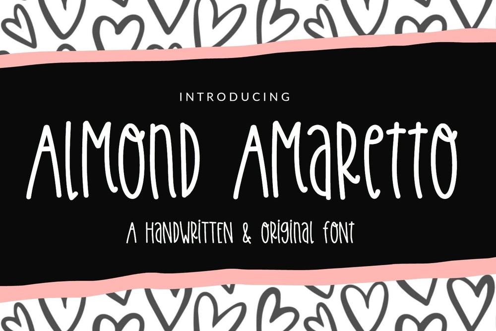 Almond Amaretto Font by Sabrina Schleiger Design