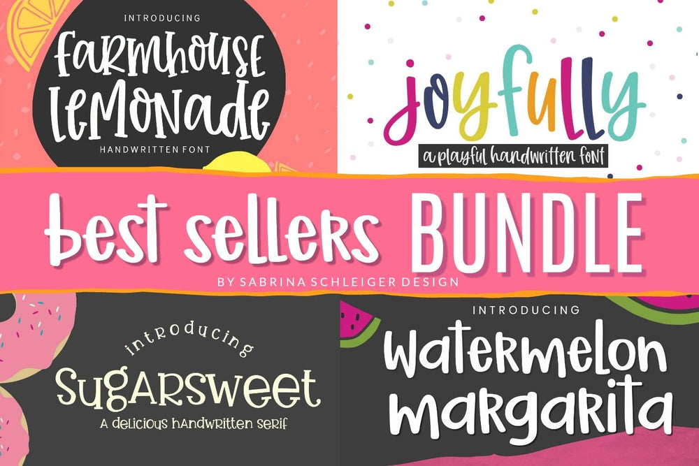 Best Sellers Font Bundle