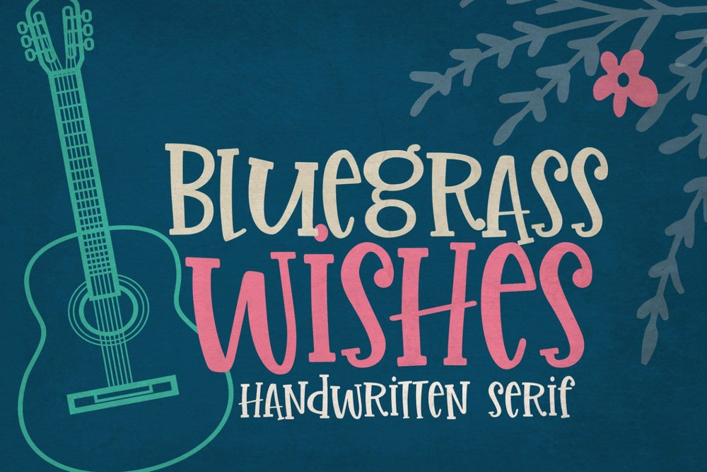 Bluegrass Wishes Handwritten Font by Sabrina Schleiger Design
