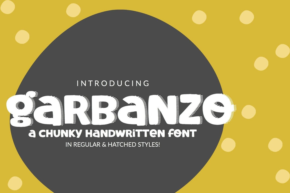 Garbanzo Handwritten Font - SVG Bliss