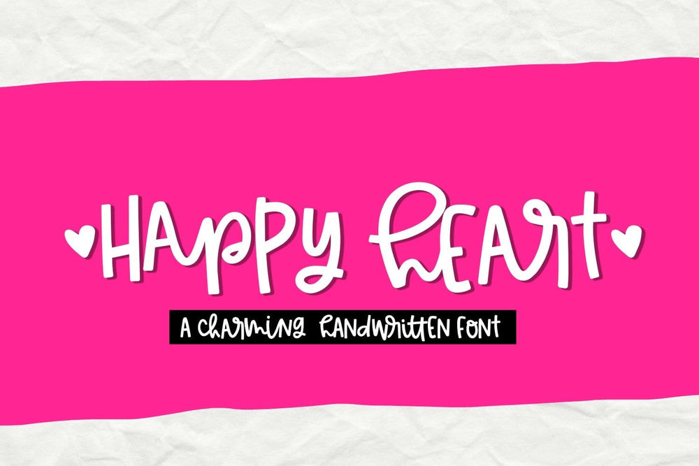 Happy Heart Handwritten font by Sabrina Schleiger Design LLC. Available to purchase and download from SVG Bliss