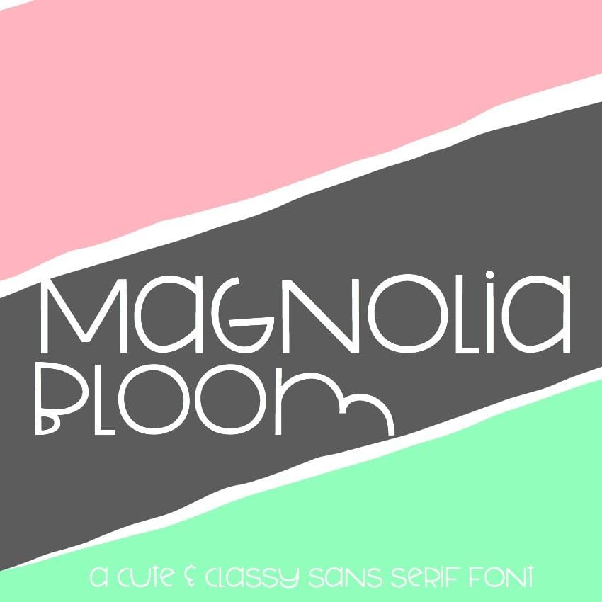 Magnolia Bloom: Handwritten Font