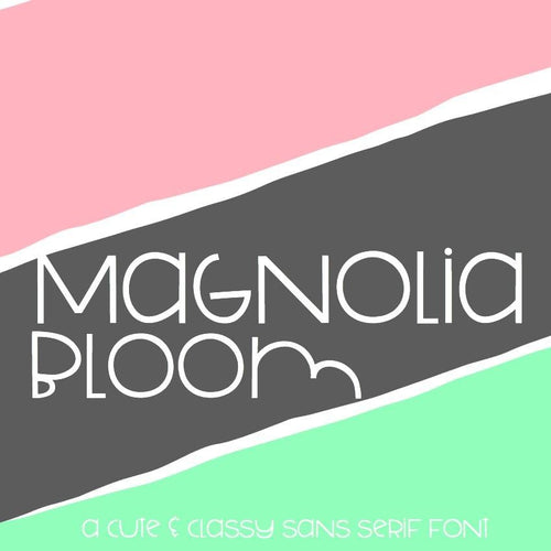 Purchase Magnolia Bloom: Handwritten Font $12.00 ©SVG Bliss™