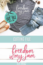 Freedom is my Jam- SVG DXF Cutting File for Cricut and Silhouette by SVG Bliss