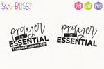Prayer is Essential SVG DXF Cut File for Cricut and Silhouette. Digital Download Product. Available to purchase from SVG Bliss