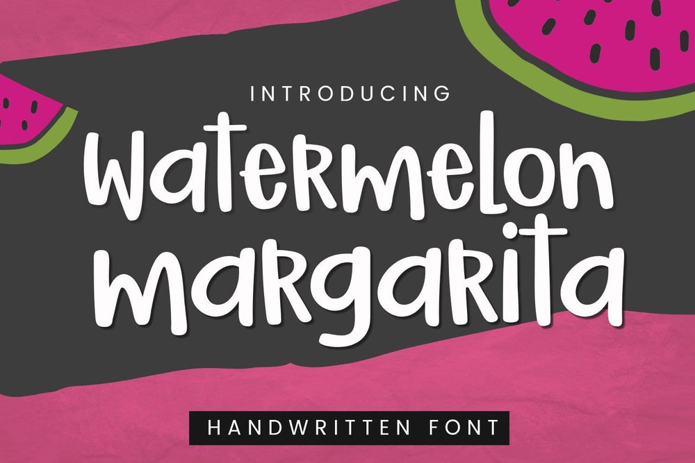 Watermelon Margarita Handwritten Font  by Sabrina Schleiger Design. Available to purchase at svgbliss.com