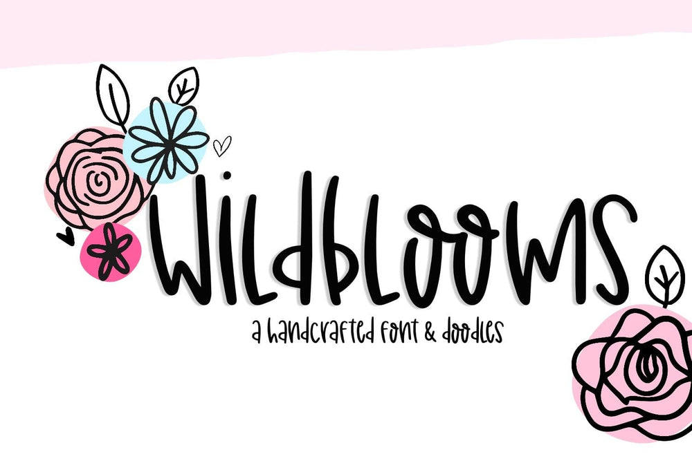 Wildblooms Handwritten Font + Doodles Duo