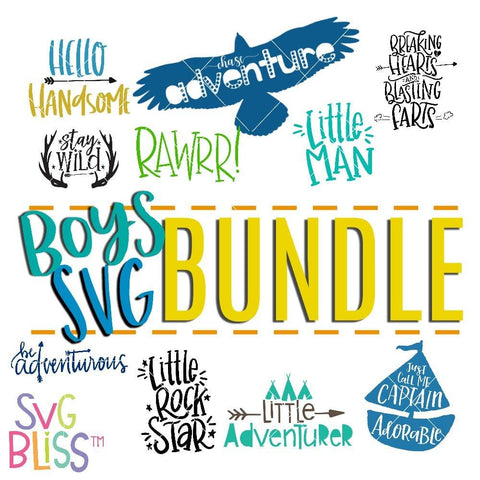 Boy SVG Bundle | 10 Pack