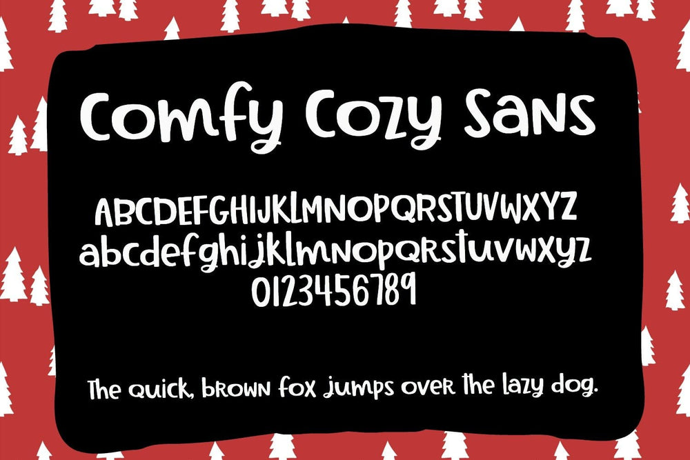 Comfy Cozy Handwritten Font by Sabrina Schleiger Design.