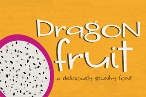 Dragon Fruit Font - SVG Bliss