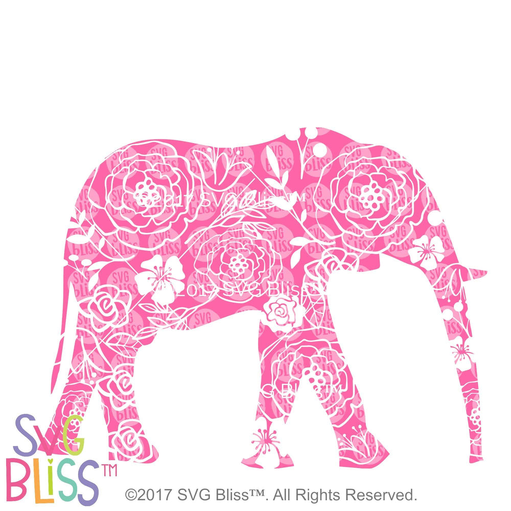 Floral Elephant - SVG Bliss