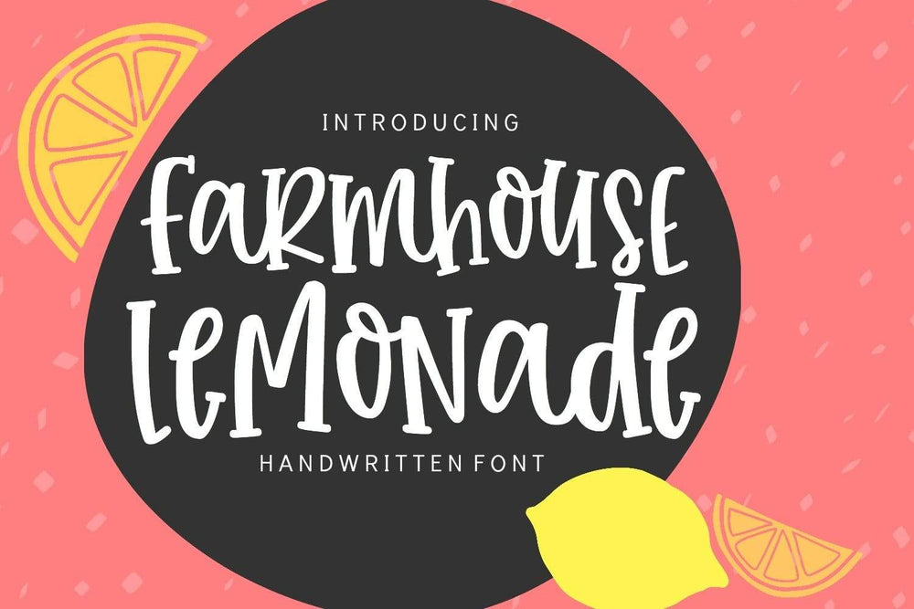 Farmhouse Lemonade Handwritten Font - SVG Bliss