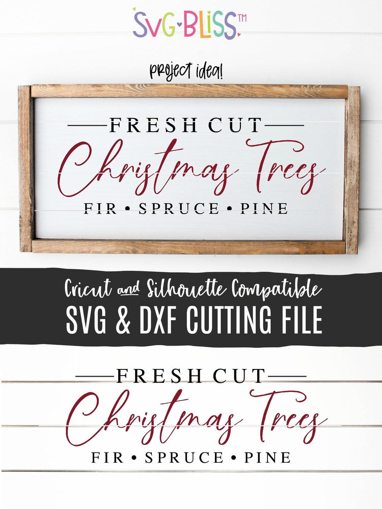 Fresh Cut Christmas Trees SVG Cut File by SVG Bliss