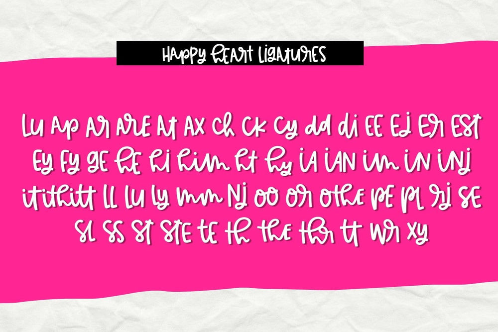 Happy Heart- Handwritten Font