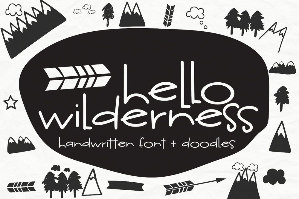 Hello Wilderness Sans Font - SVG Bliss