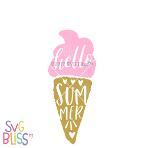 Hello Summer | SVG EPS DXF PNG - SVG Bliss