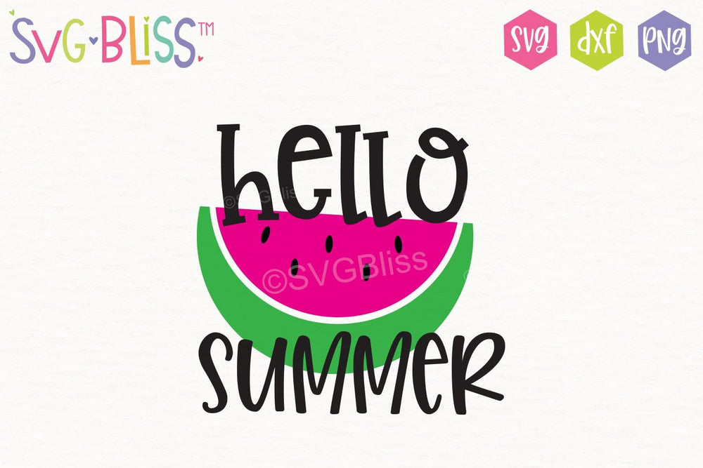 Hello Summer FREE SVG Cut File. Available only from svgbliss.com