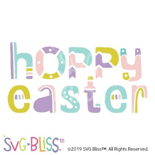 Hoppy Easter SVG DXF - SVG Bliss