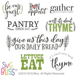 Kitchen Sign SVG Bundle - SVG Bliss