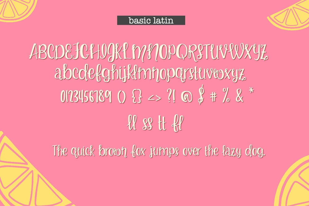 Lemon Blissed Handwritten Font
