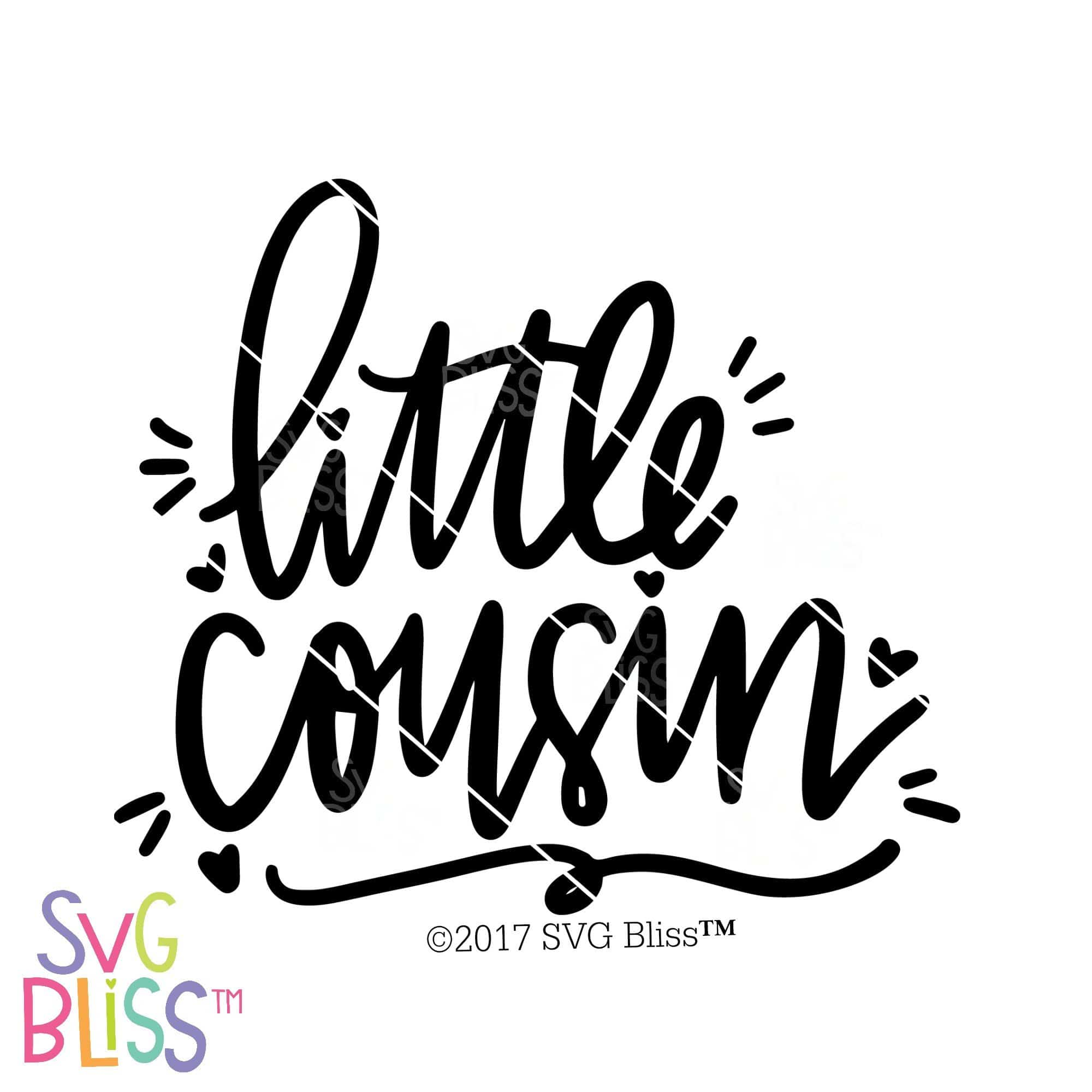 Purchase Little Cousin | SVG EPS DXF PNG $2.99 ©SVG Bliss™