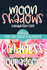 Moon Shadows Handwritten Font. Available to purchase and download from  svgbliss.com