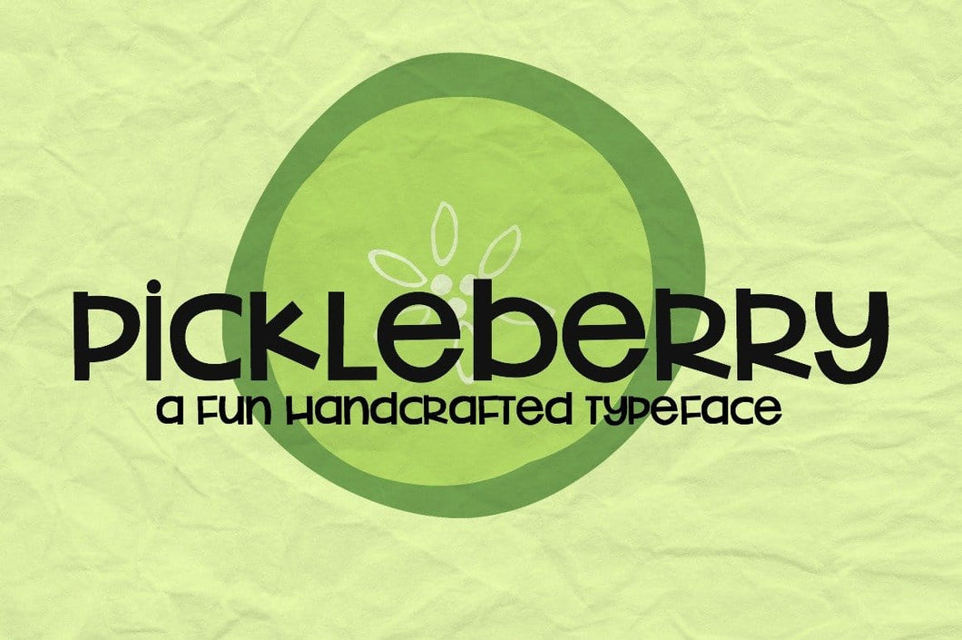 Pickleberry Font - SVG Bliss