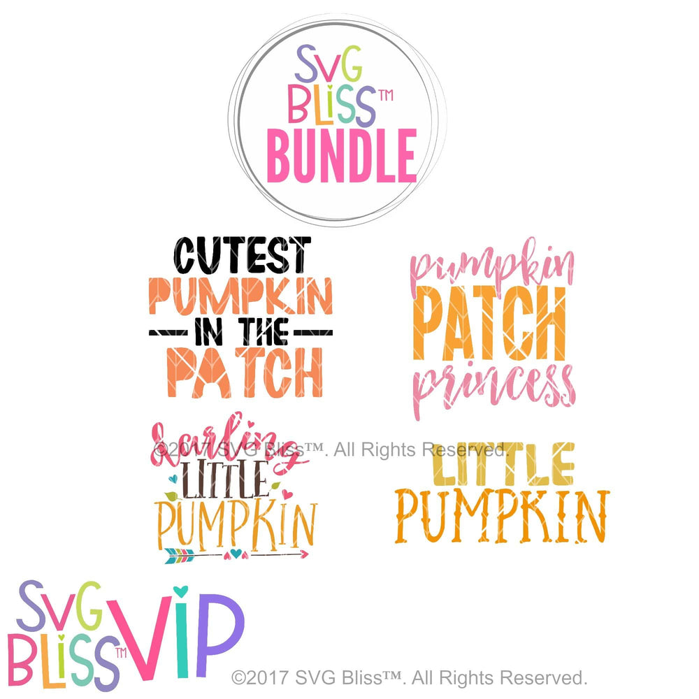 Pumpkin Bundle- SVG EPS DXF Cutting Files - SVG Bliss