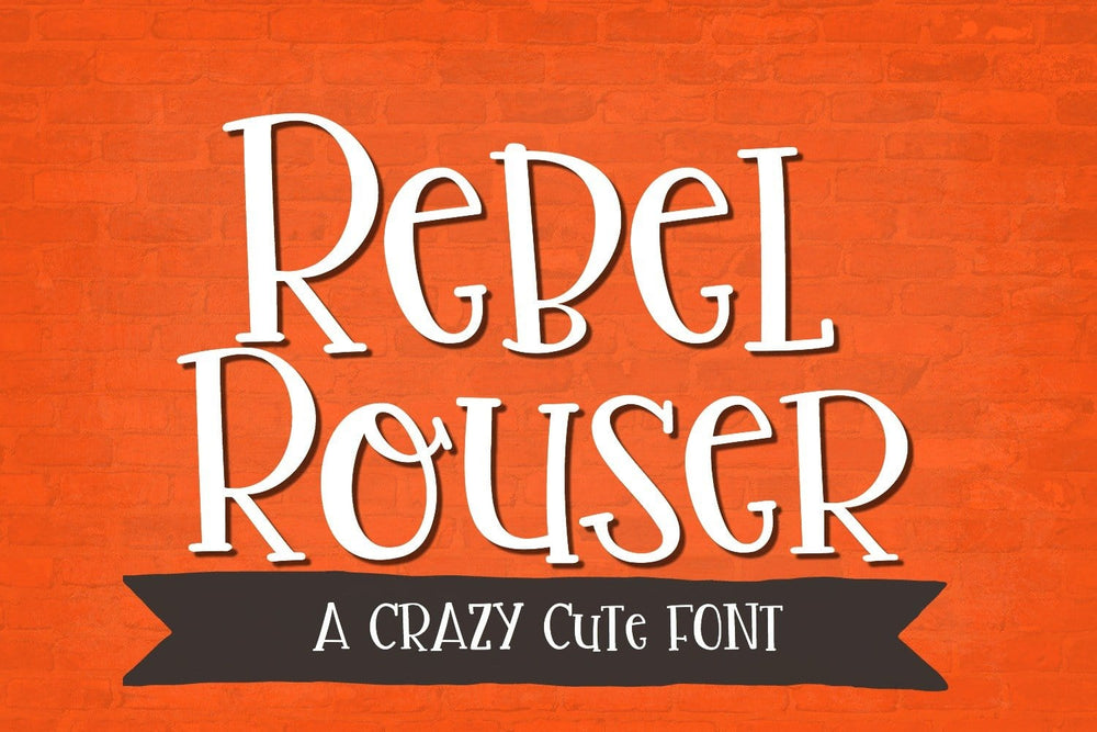 Rebel Rouser Handwritten Font - SVG Bliss