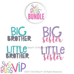 Sibling Bundle- SVG EPS DXF Cutting Files - SVG Bliss