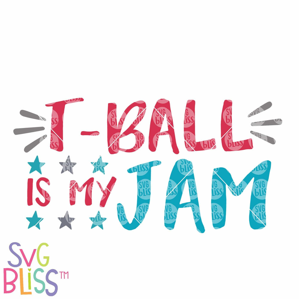 T-Ball is My Jam SVG DXF Cutting File Digital Download SVG Bliss