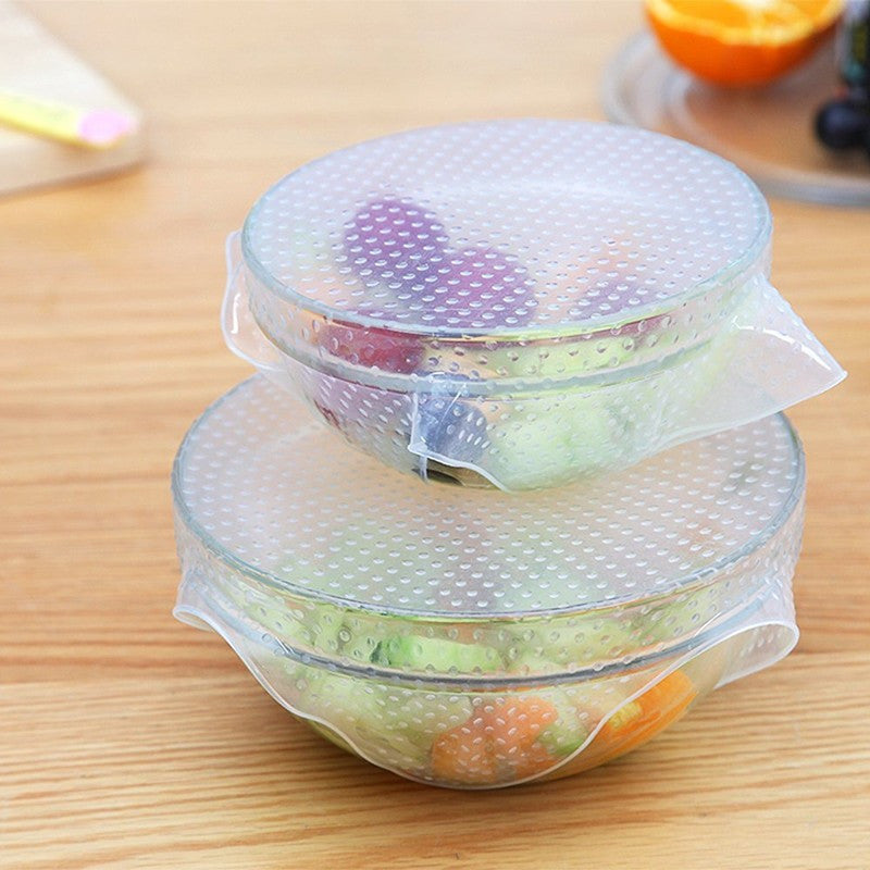Square Shaped Silicone Bowl Cover Kitchen utensils Cover Food Stretch Lid
