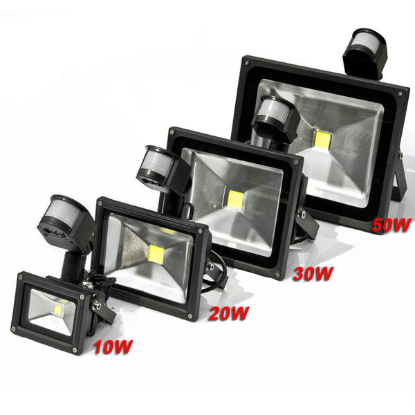 LED Flood Light with sensor Waterproof IP65 Outdoor 10W 20W 30W 50W AC110-240V Garden Refletor Floodlight