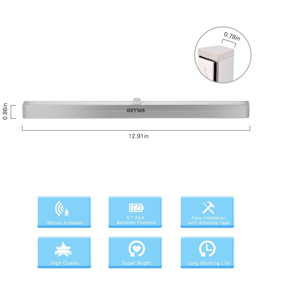 Portable 20-LED Wireless Motion Sensing LED Light (Battery Operated)