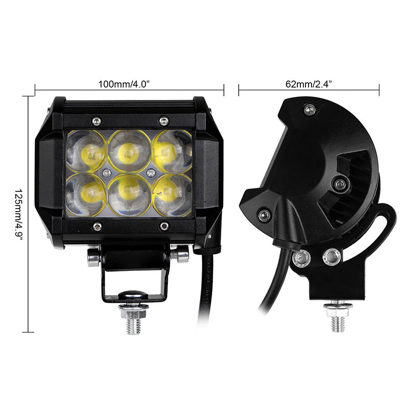 4 Inch 30W LED Work Light Offroad Driving Fog Light Flood Lamp For 4WD SUV ATV 4X4 Boat ATV