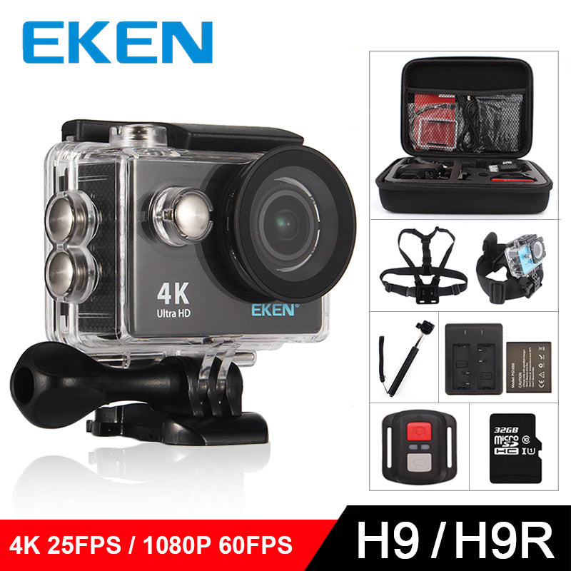 EKEN H9 Action camera H9R Ultra HD 4K / 25fps WiFi 2.0""