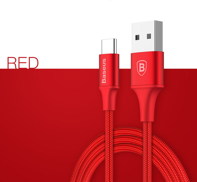 Baseus USB Cable For Samsung S8 Note 8 USB Type C Charger Cable For Huawei Xiaomi Mi5 Mi6 Mobile Phone Cable 2A USB Type-C Cable