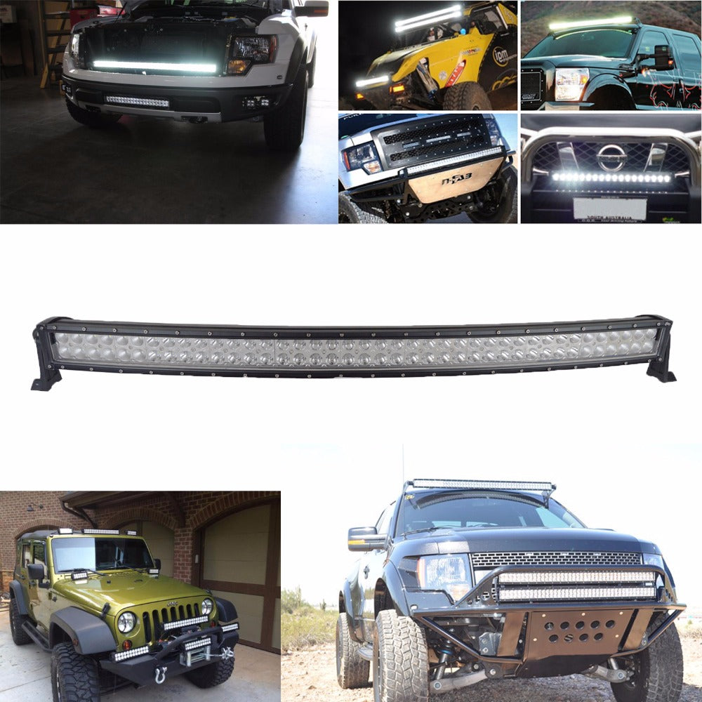 21, 32, 42, 52 inch curved led light bar. 120W 180W 240W 300W dual row.