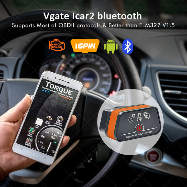 iiCar2 Bluetooth OBD II Car diagnostic-tool  for Android