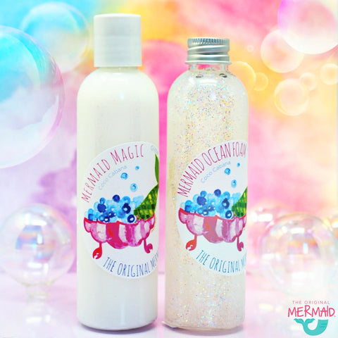 Bathtub MERMAID Glitter set