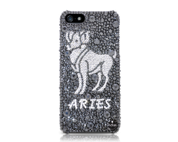 Aries Bling Crystal iPhone 7 Cases - Black
