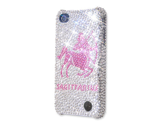 Sagittarius Bling Crystal Galaxy S7 Phone Cases - Silver