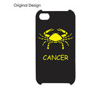 Cancer Bling Crystal iPhone 7 Cases - Black Gold