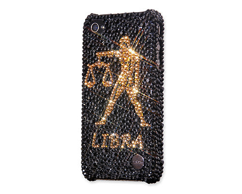 Libra Bling Crystal iPhone 6S Plus Cases - Black Gold