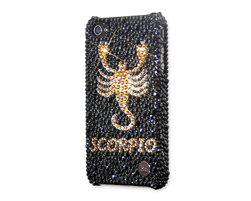 Scorpio Bling Crystal Galaxy S7 Phone Cases - Black Gold