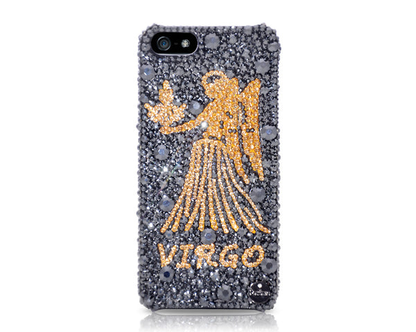 Virgo Bling Crystal Galaxy Note 5 Phone Cases - Black Gold