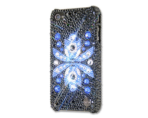 Flor Azul Bling Crystal iPhone 6S Plus Cases