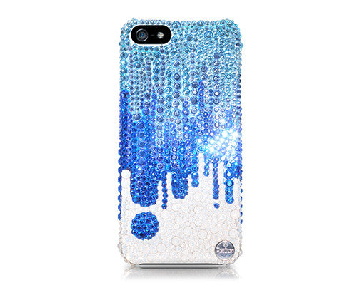 Torrent Bling Crystal Galaxy Note 5 Phone Cases - Blue